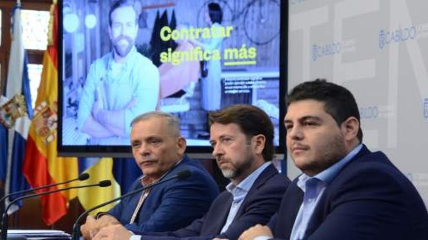 Momento de la presentación en rueda de prensa de la campaña, este lunes