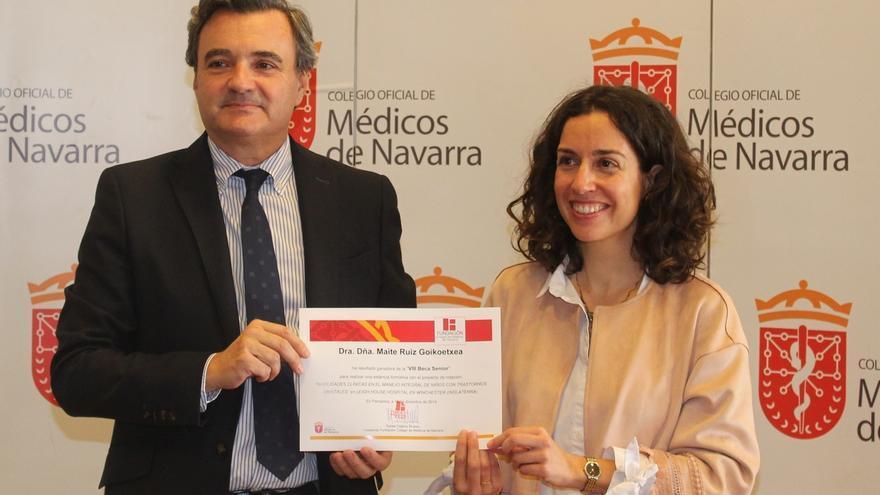 La pediatra Maite Ruiz Goikoetxea, ganadora de la Beca Senior 2019 del Colegio de Médicos de Navarra