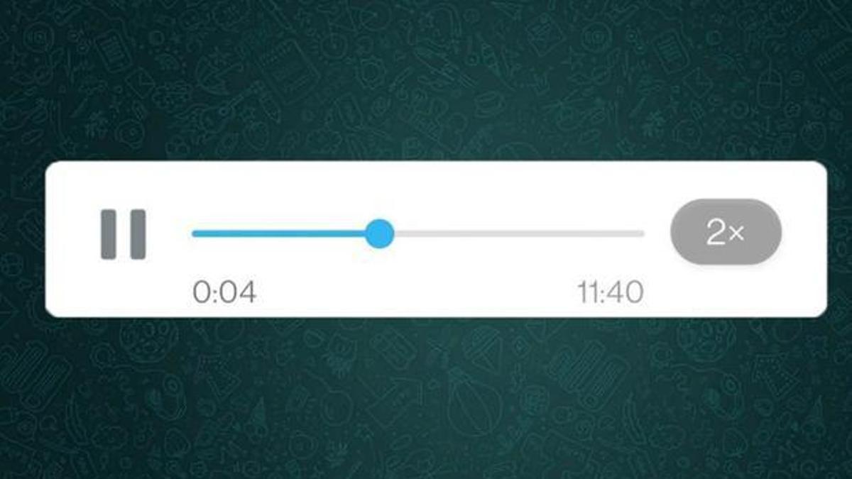 Ahora se pueden acelerar los audios de WhatsApp