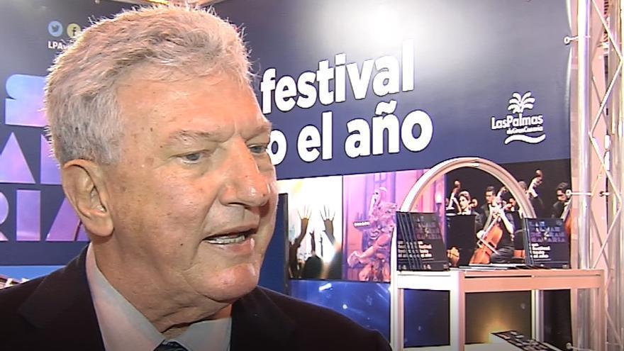 Pedro Quevedo explicó el potencial cultural de la capital grancanaria en Fitur.