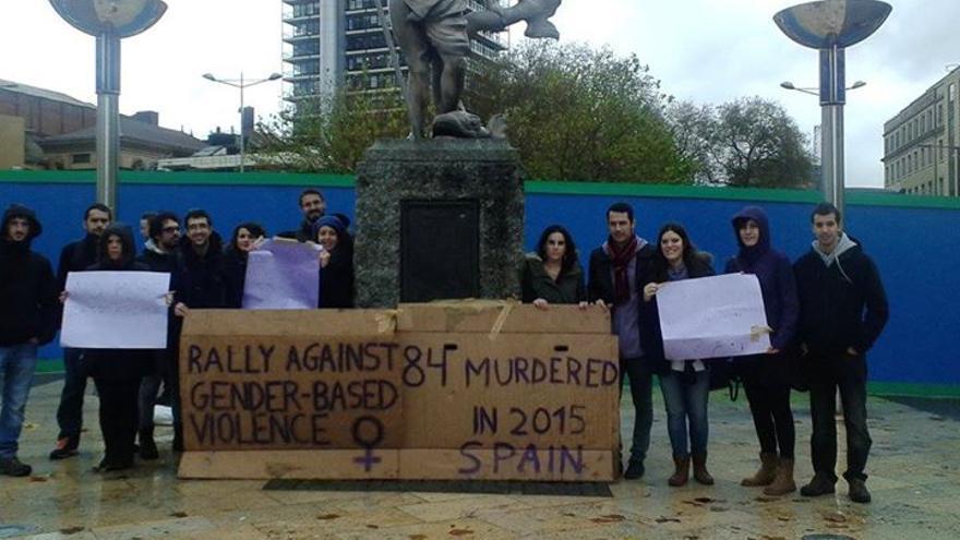 Protestas el #7N en Bristol. / Marea Granate