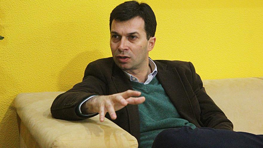 Gonzalo Caballero, secretario general del PSdeG, durante la entrevista