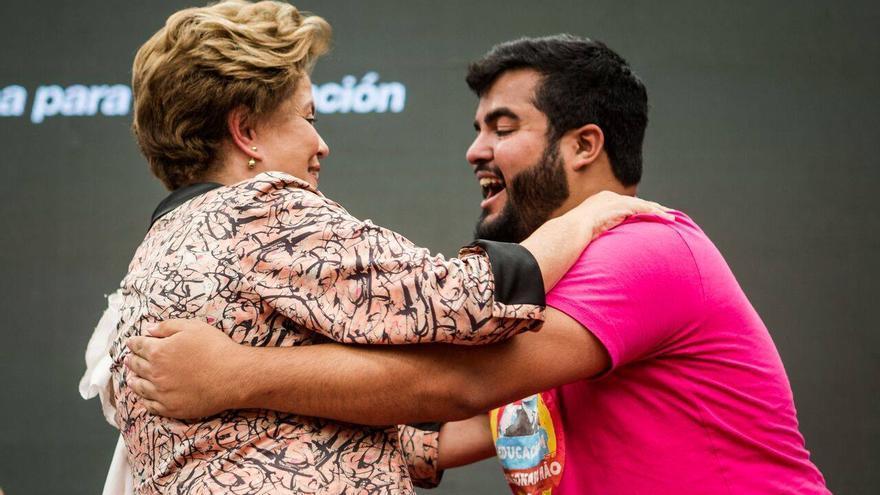 Dilma Rousseff durante su participación en el Foro de Pensamiento Crítico.