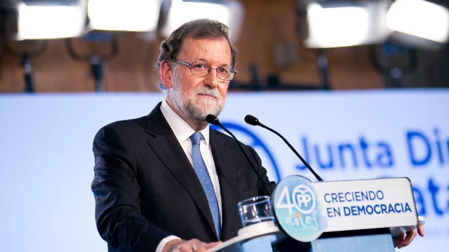 El presidente del Gobierno, Mariano Rajoy, durante un acto del Partido Popular en Cataluya.