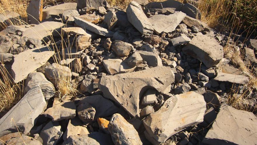 Amontonamientos de piedras.Foto: Miguel A. Martín.