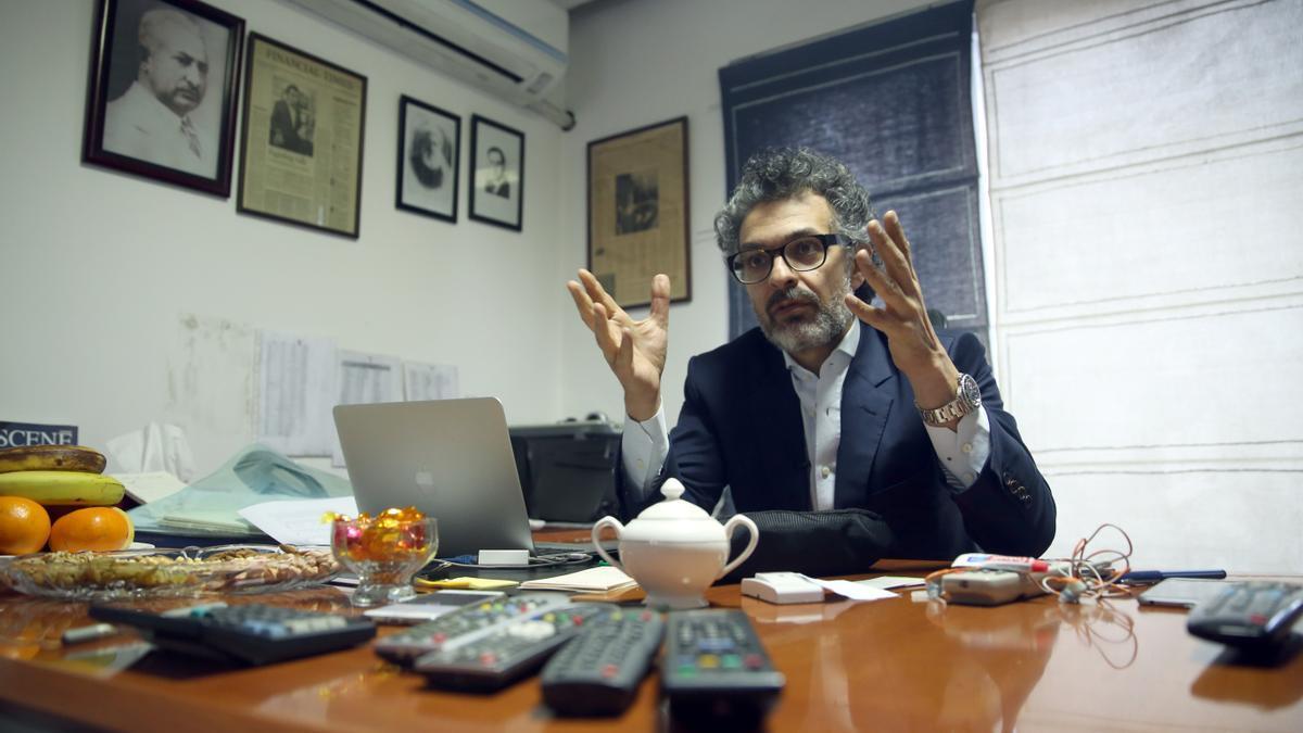Saad Mohseni, presidente de Moby Group, durante una entrevista en 2016.