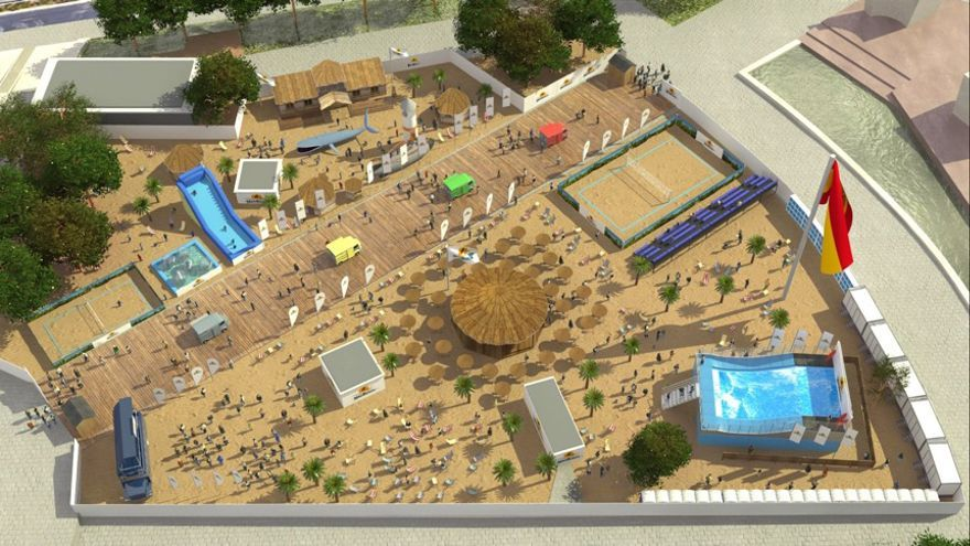 Vista aérea del proyecto MadBeach.