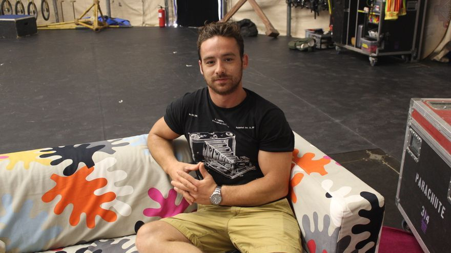 Luis Moya, artistas del Circo del Sol.