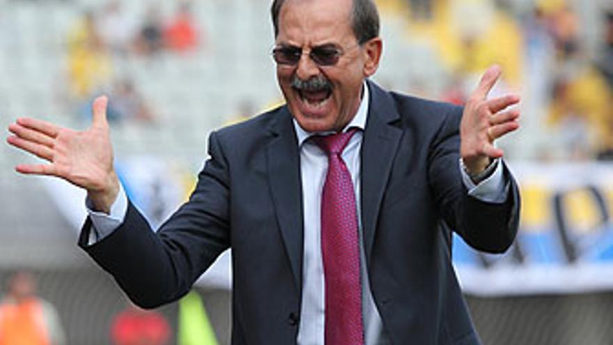 Sergio Kresic, este sábado durante el partido ante el Albacete. (QUIQUE CURBELO)