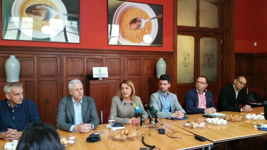 Ángeles Batista en el encuentro con la prensa.