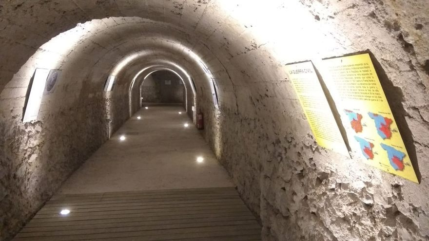 Imagen del refugio antiaéreo que podrá visitarse en Cuenca desde este lunes
