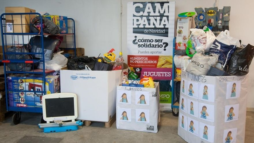 La Universidad de Navarra recoge 8.290 kilos de juguetes, ropa y alimentos en la campaña de Navidad
