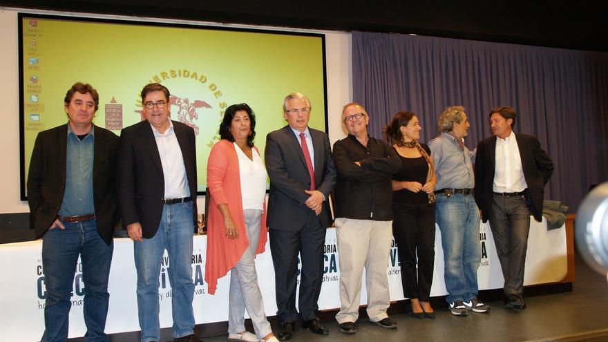 Los once participantes en la presentación de Convocatoria Cívica en Andalucía /Foto: M.Iglesias