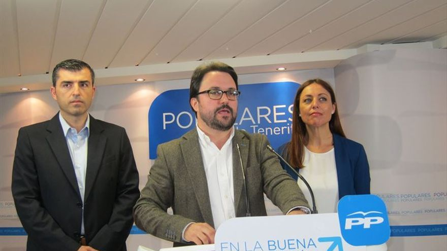 Manuel Domínguez, Asier Antona y Cristina Tavío. FOTO: Europa Press