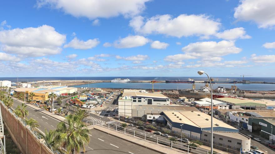 Zona de La Esfinge en el Puerto de La Luz y de Las Palmas