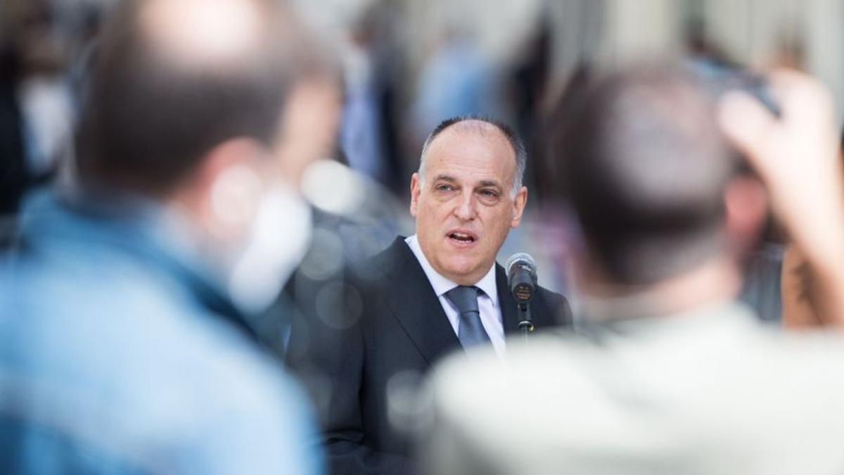 El presidente de La Liga, Javier Tebas