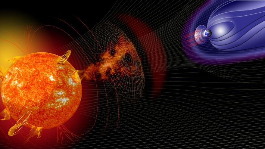 Tormentas solar en dirección a la Tierra
