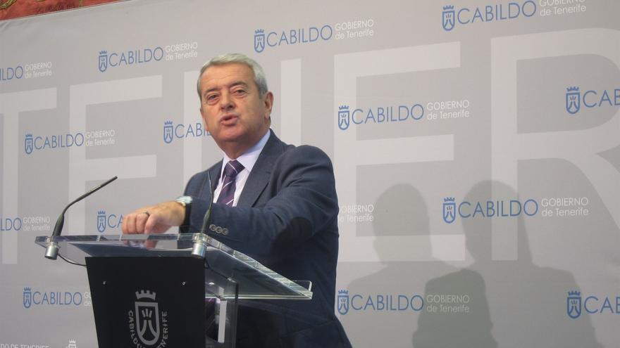 Aurelio Abreu, en la rueda de prensa posterior al Consejo de Gobierno insular