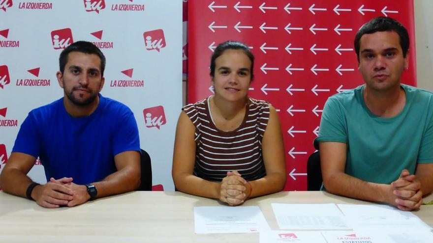 Mariela Rodríguez, Andrés Castro y Adrián León forman el Consejo Político Local de IUC en Los Llanos de Aridane.