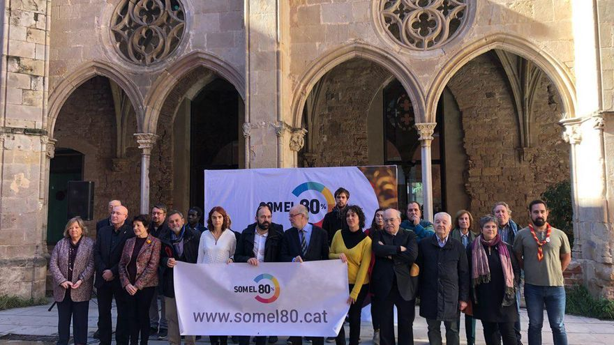 Òmnium Cultural presenta la plataforma 'Som el 80%', con personalidades de todos los sectores soberanistas