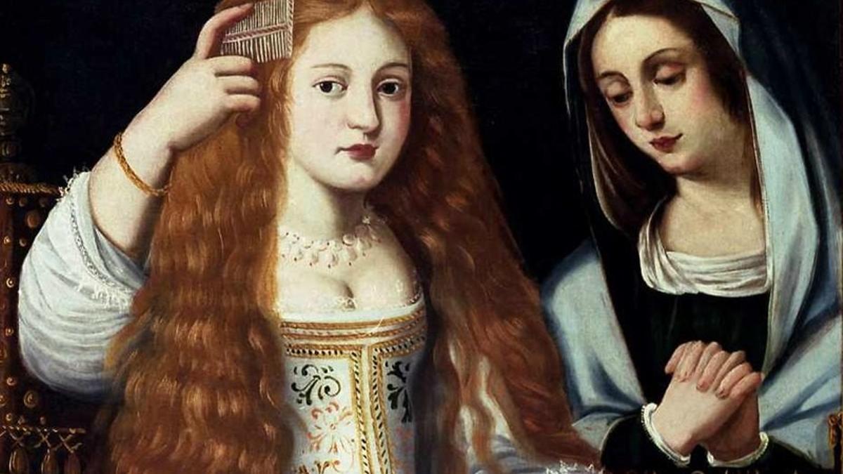 Imagen de La Calderona en la pieza 'Alegoría de la vanidad' en un supuesto retrato de la actriz
