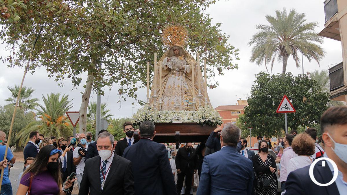 La Virgen de la Estrella, la primera procesión que salió en Córdoba desde el inicio de la pandemia