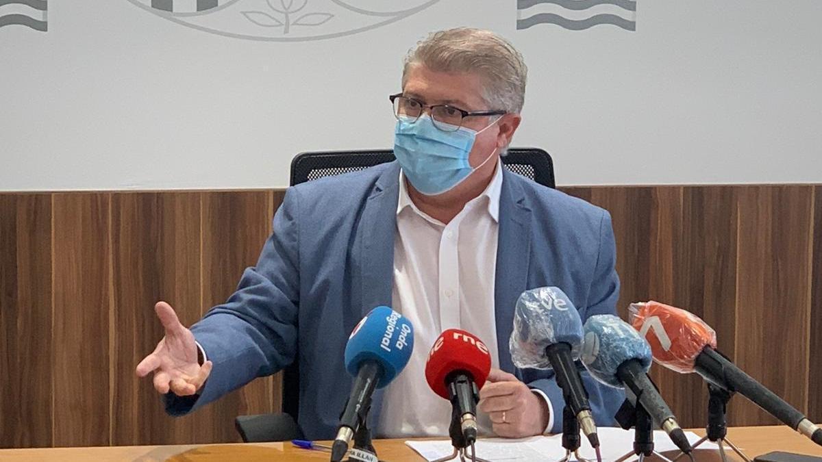 El delegado del Gobierno, José Vélez, en rueda de prensa