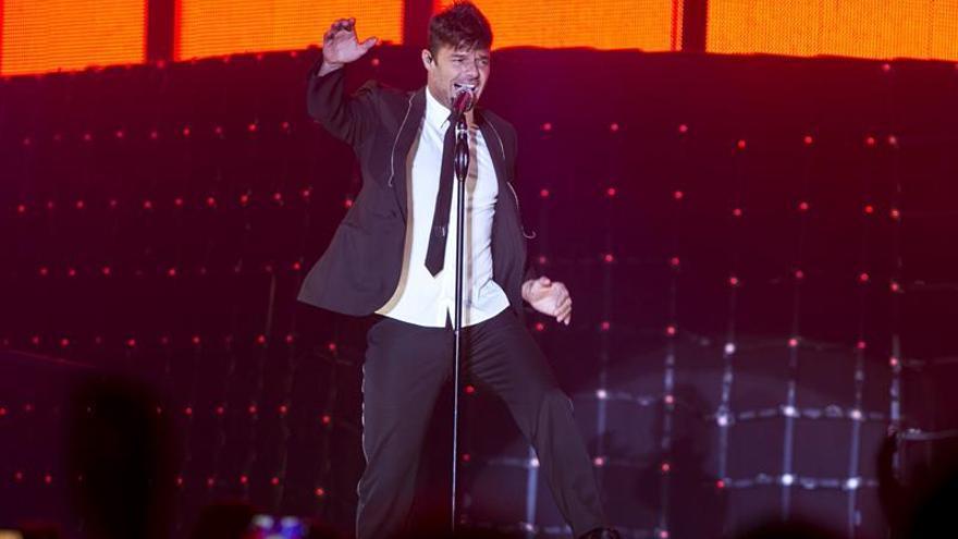 Ricky Martin, durante su actuación en Las Palmas de Gran Canaria. (EFE / Quique Curbelo)