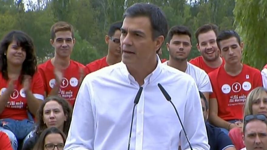 Pedro Sánchez, en València.