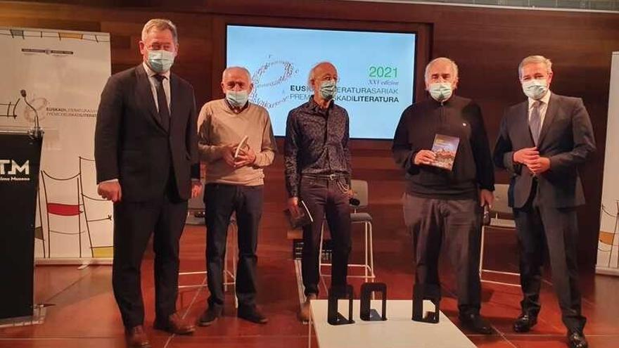 Presentación de los Pemios Euskadi de Literatura 2021 en las modalidades de euskera
