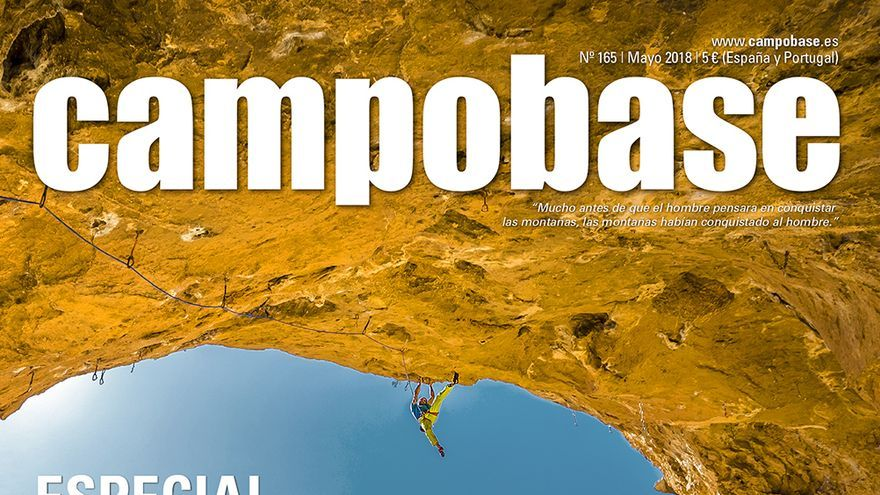 Chris Sharma en 'Cadena Perpetua' (8c).