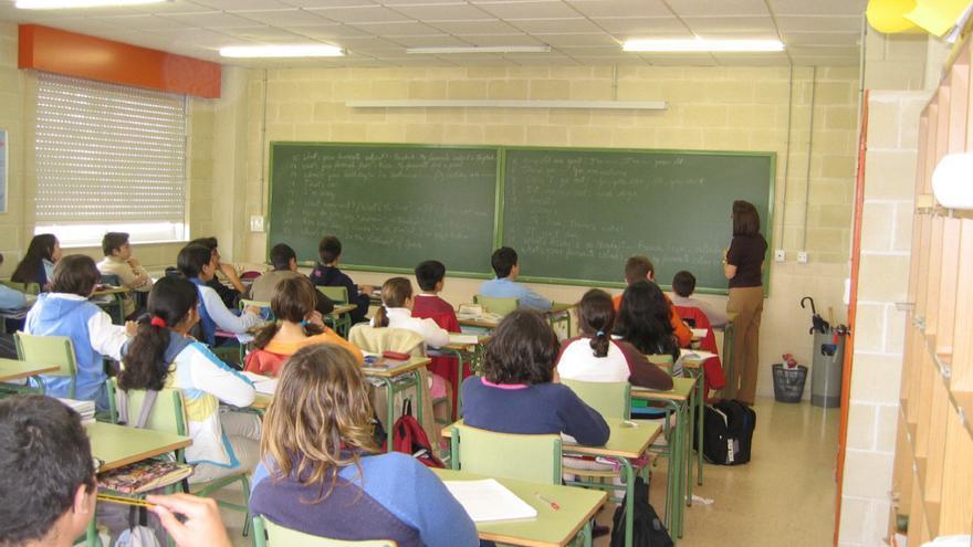 Alumnado de un instituto vigués