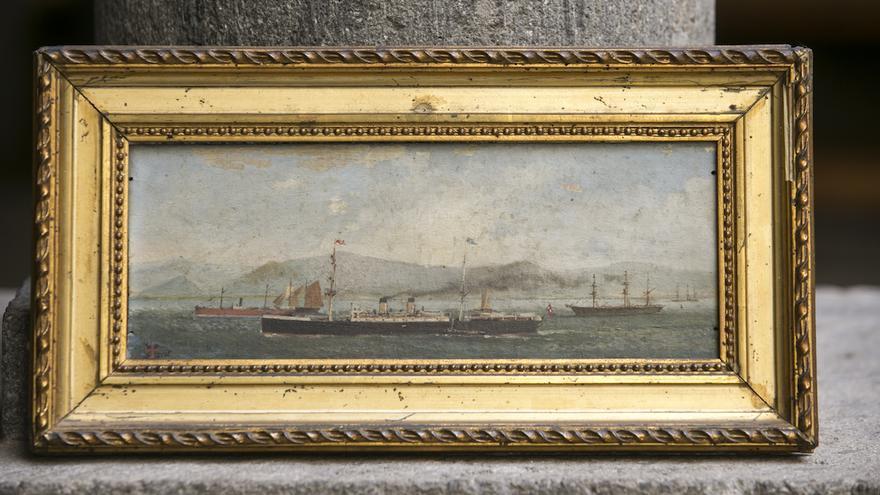 Presentado un óleo inédito pintado por Benito Pérez Galdós a finales del siglo XIX