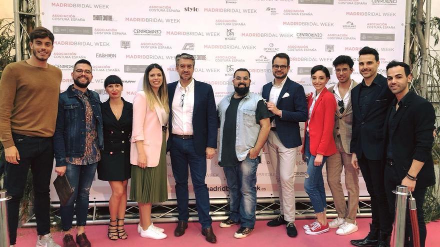Jordi Pérez y los diseñadores de Isla Bonita Moda.