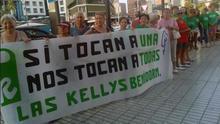 Una movilización de las 'kellys' en Benidorm.
