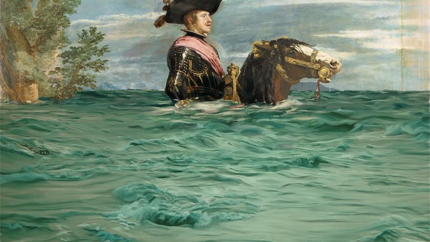 De 'Felipe VI a caballo' a 'Felipe VI inundado'