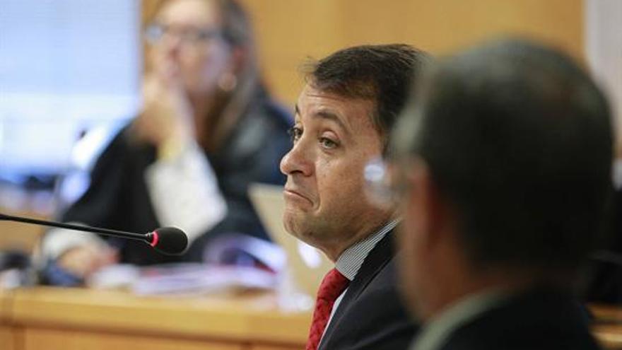 José Manuel Bermúdez, en la sesión del juicio este lunes