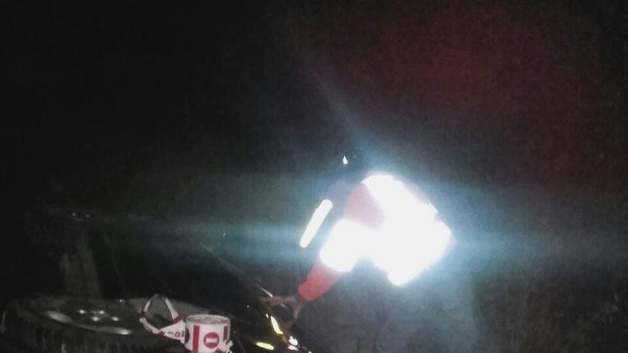 Herida una vecina de Milagro tras salirse de la vía su vehículo en Villafranca