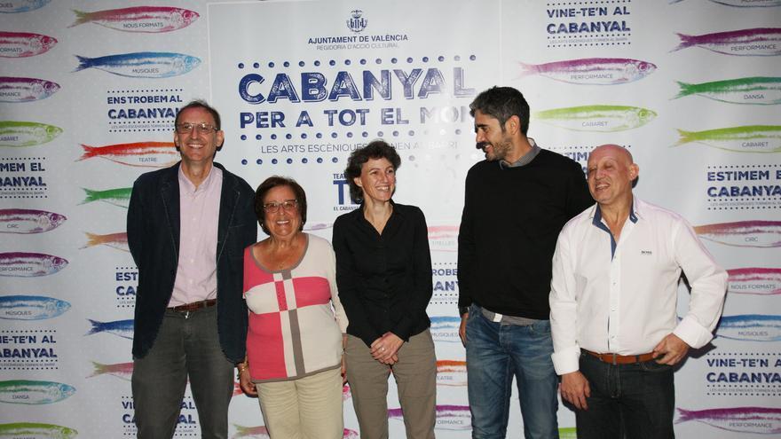 Varios de los protagonistas de la inauguración del Teatro Musical del Cabanyal