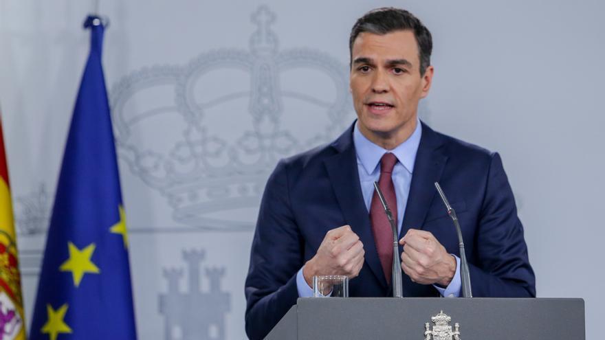 Sánchez hará una declaración institucional en Moncloa a partir de las 14.30