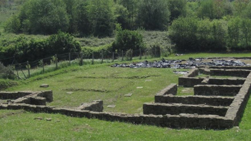 Restos del poblado romano de Forua. Fuente: https://goo.gl/GI3clU