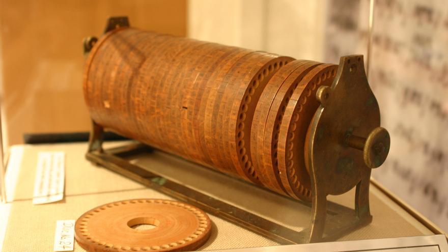 Ruedas de cifrado de Jefferson. Museo Criptológico Nacional de Estados Unidos