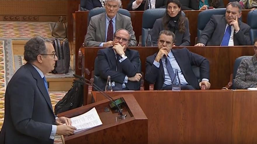 Enrique Ossorio en la Asamblea de Madrid