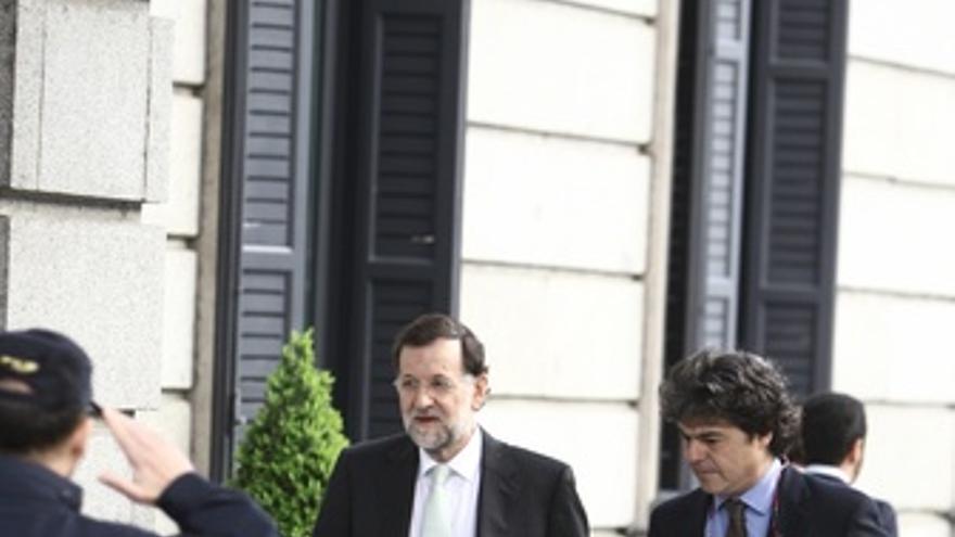 Rajoy Llega Al Congreso De Los Diputados