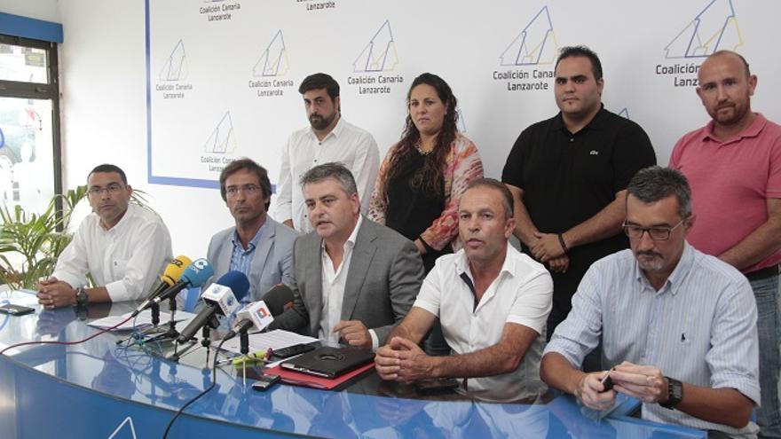 Rueda de prensa de los dirigentes de Coalición Canaria Lanzarote (DE LA CRUZ/DIARIO DE LANZAROTE)