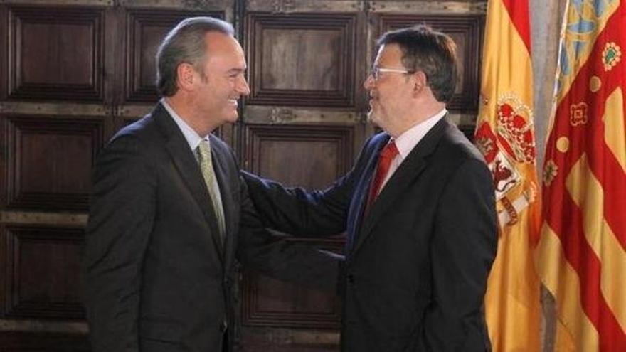 Alberto Fabra y Ximo Puig