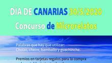 Cartel del 'I Concurso de Microrrelatos Día de Canarias' de la Villa de Garafía.