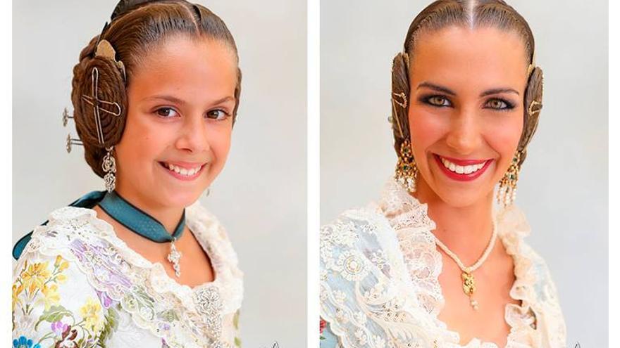 Clara María Parejo (infantil) y Raquel Alario han sido elegidas falleras mayores de Valencia