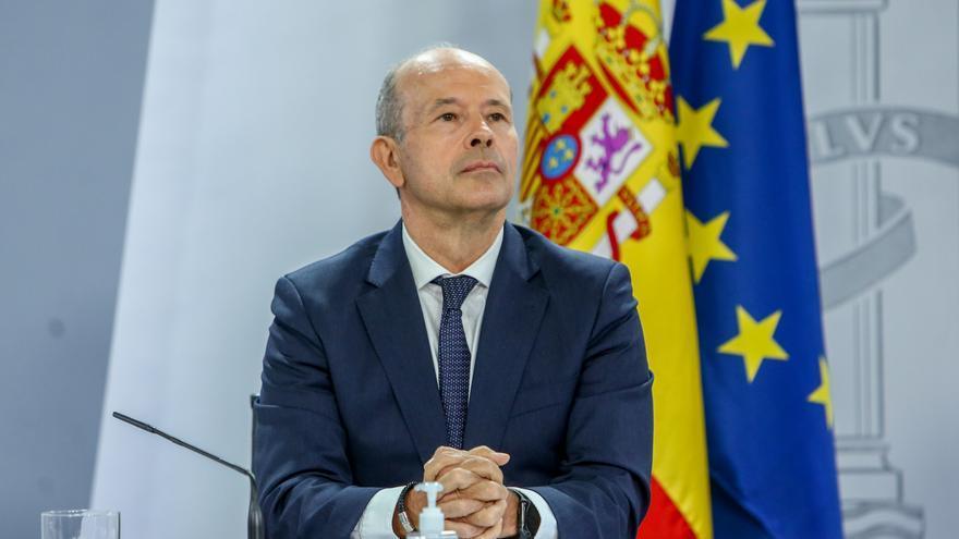 El ministro de Justicia, Juan Carlos Campo, en una comparecencia tras la reunión del Consejo de Ministros en Moncloa, a 29 de junio de 2021, en Madrid (España)