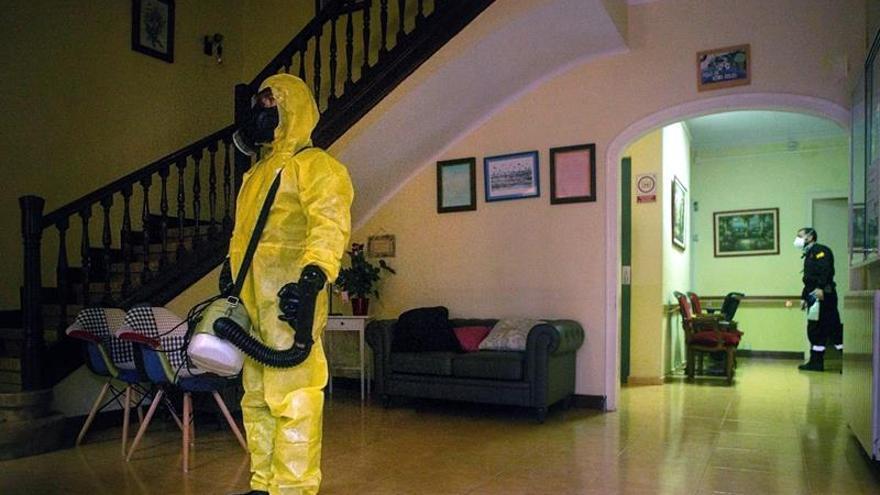 Desinfección en una residencia
